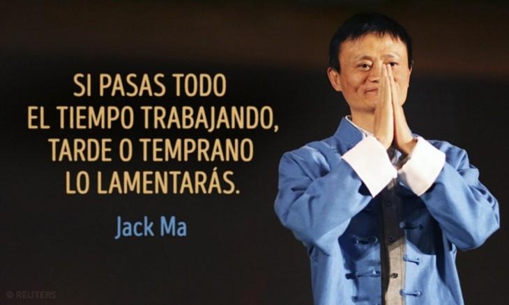 Jack Ma si pasas todo el tiempo trabajando, tarde o temprano lo lamentarás