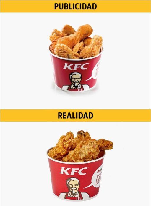PUBLICIDAD/REALIDAD, Mini Bucket de KFC