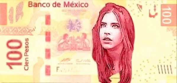LADY 100 PESOS EN EL BILLETE