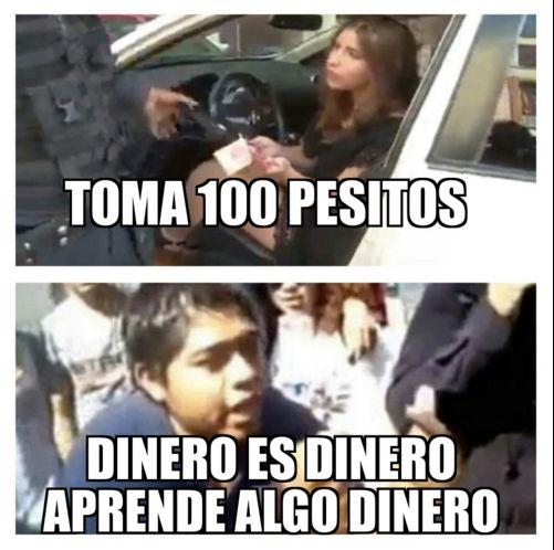 LADY 100 PESOS. DINERO DINERO DINERO