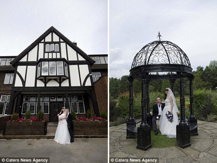 fotografías de una pareja el día de su boda