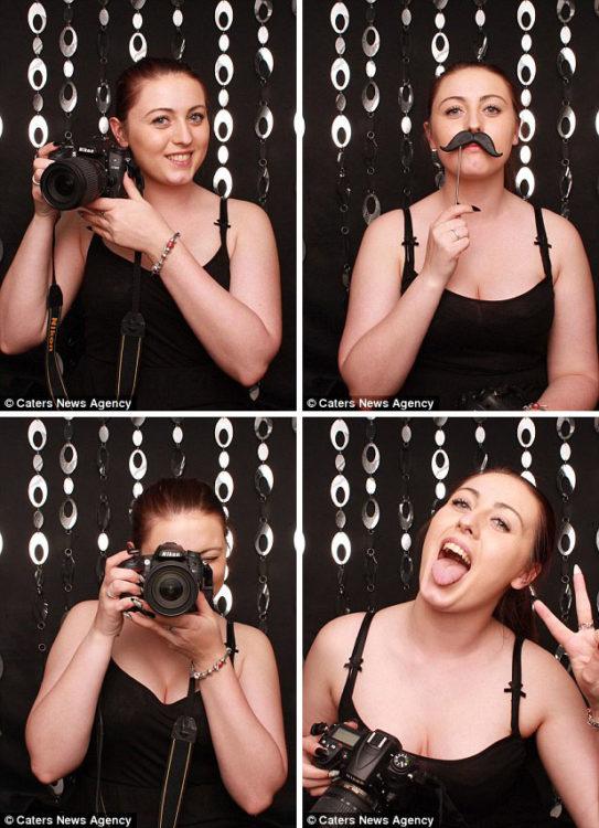selfies de la fotógrafa que no cubrió bien el evento de una pareja en Gran Bretaña