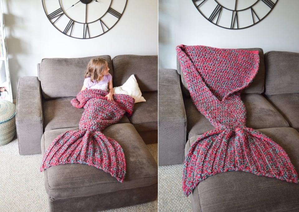 tus piernas en una bella Cola de Sirena con estas Mantas Crochet