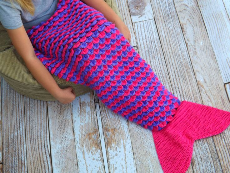Mantas crochet estilo cola de sirena para mujeres y hombres