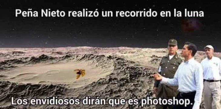 Memes de la visita de Peña Nieto a Pemex en Coatzacoalcos en una visita a la luna