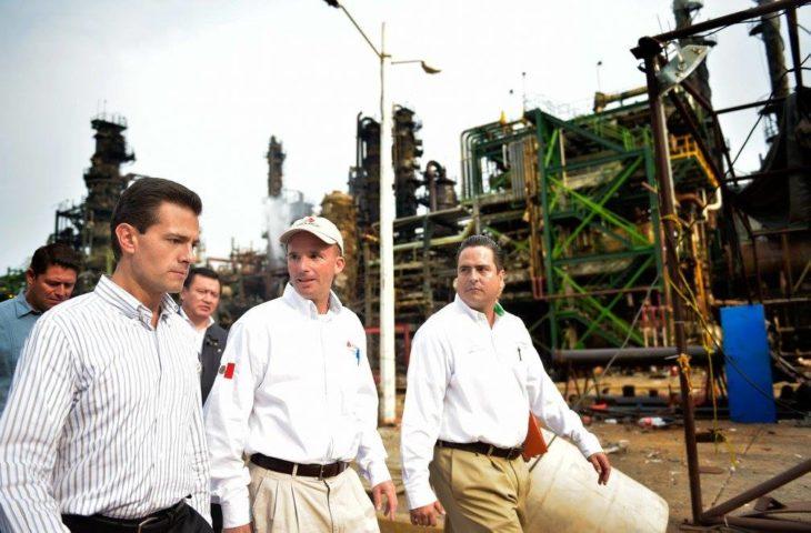 recorrido de Peña Nieto en la planta Pajaritos en Coatzacoalcos, Veracruz