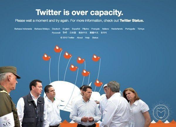 Memes de la visita de Peña Nieto a Pemex en Coatzacoalcos con un fondo de la capacidad de Twitter