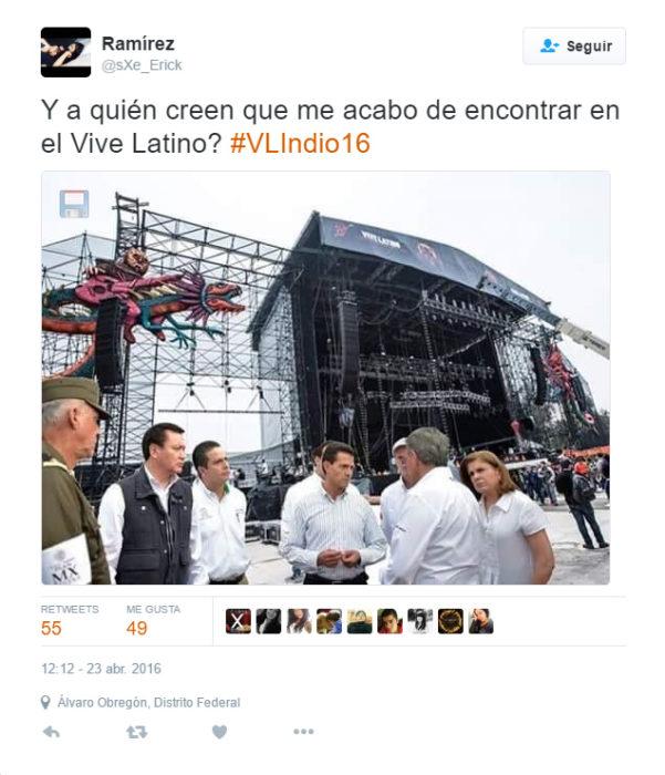 Memes de la visita de Peña Nieto a Pemex en Coatzacoalcos en el Vive Latino