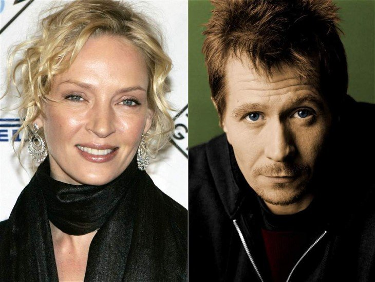 Uma Thurman y el actor Gary Oldman
