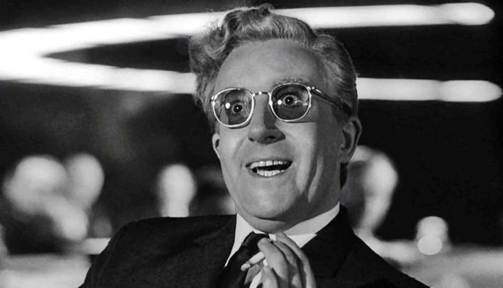 personaje principal de la película Dr. Strangelove or How I Learned to Stop Worrying and Love the Bomb