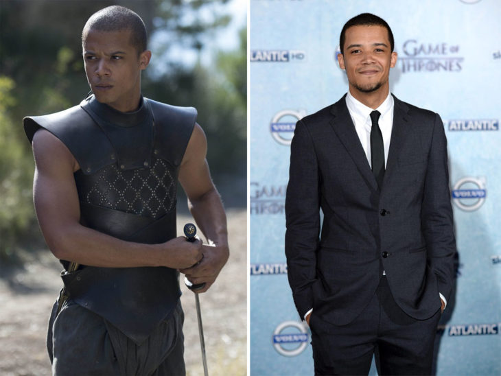 Jacob Anderson en su personaje de Game of Thrones