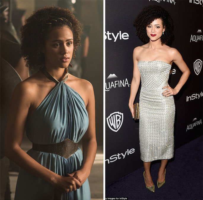 Nathalie Emmanuel actriz que interpreta a Missandei en Game of Thrones