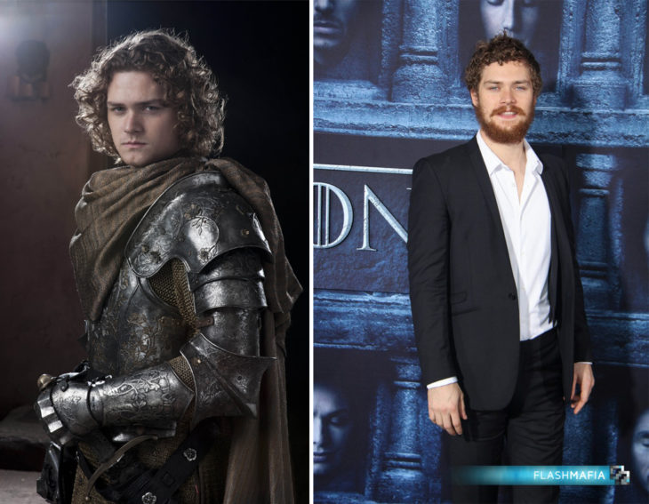 actor inglés Finn Jones en su personaje de Game of Thrones