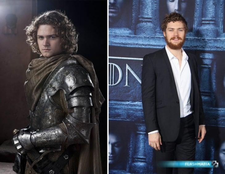 actor inglés Finn Jones en su personaje de Game of Thrones