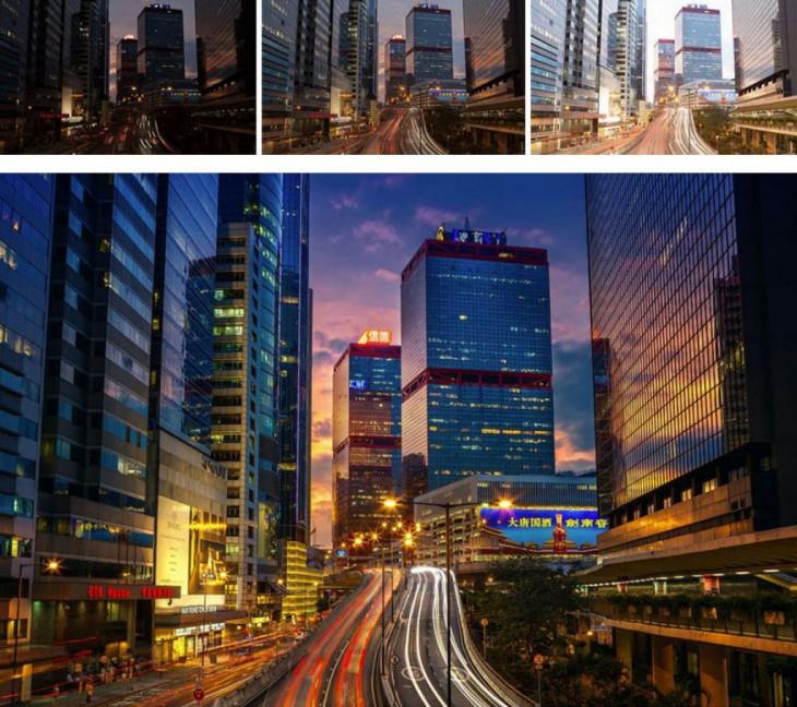 evolución del photoshop en una fotografía
