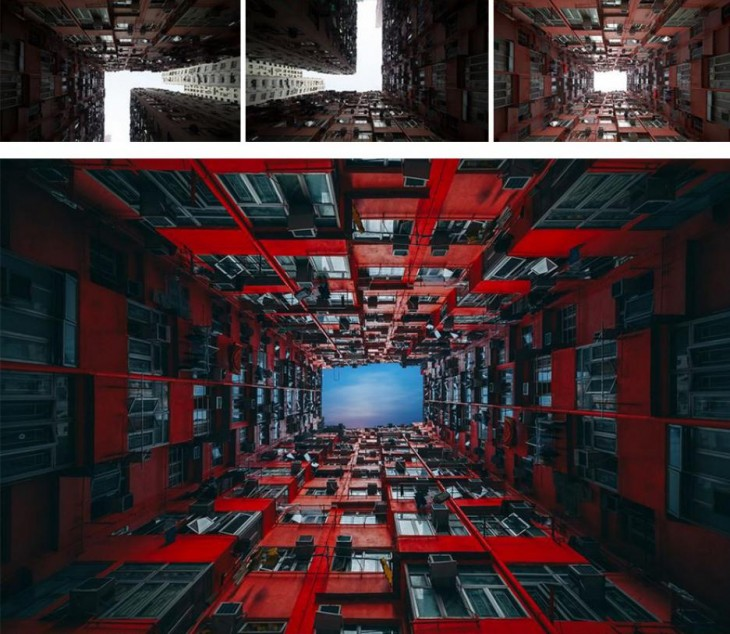 imagen de la evolución de una fotografía a cargo del fotógrafo Peter Stewart