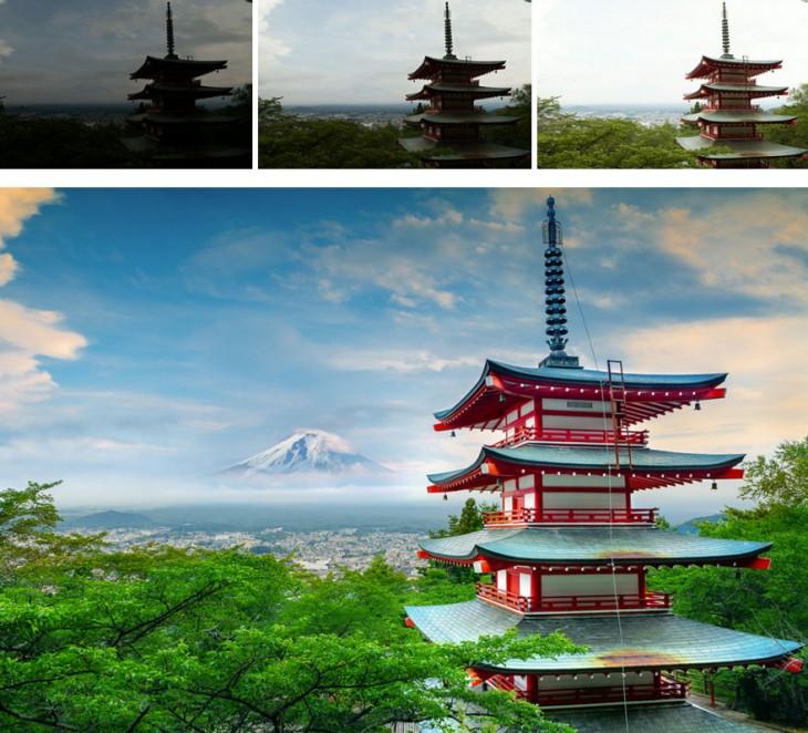 """fotografía de la serie de fotografías del antes y después de Peter Stewart """"Antes y después"""""""