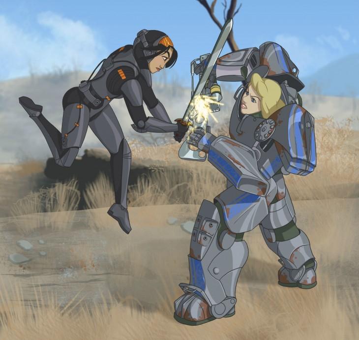 Mulan vs cenicienta como habitantes del videojuego Fallout 4