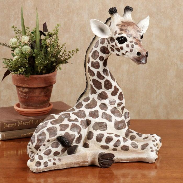 adorno de mesa en forma de jirafa