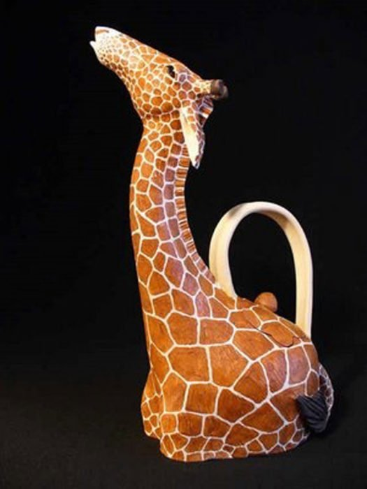 tetera en forma de jirafa