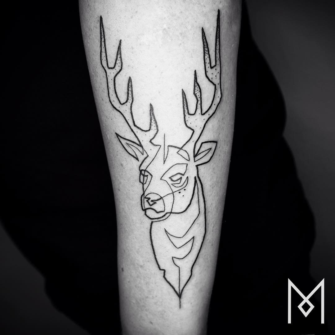 Tattoo Ideas Line Work: 15 Tatuajes Hechos Con Una Sola Línea Continua