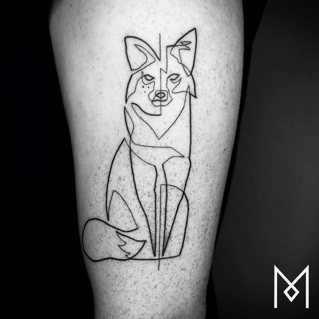 Line Art Design Inspiration : Tatuajes hechos con una sola línea continua