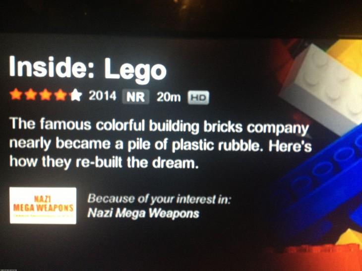 netflix en la película de lego