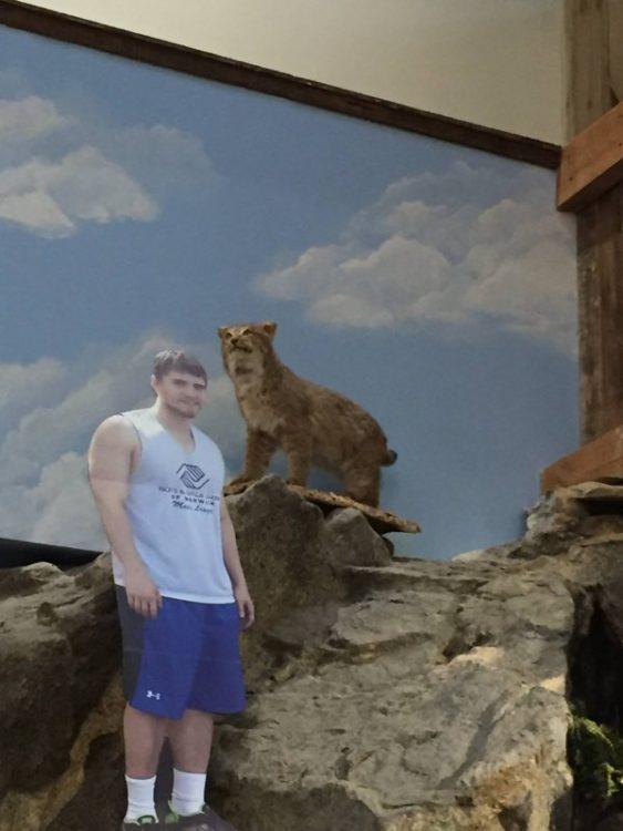 kevin en el museo