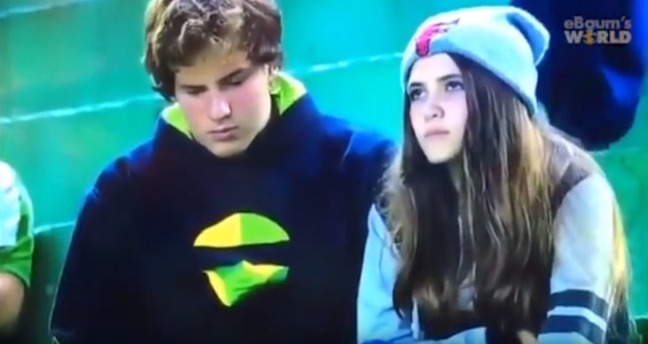 Captura de pantalla del video de una chica terminando a su novio en televisión pública