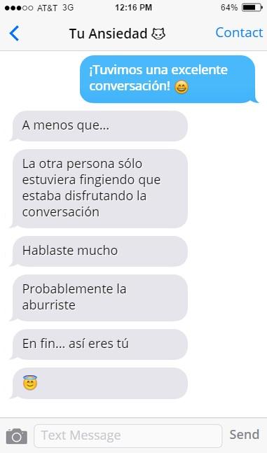 ansiedad mensajes conversación