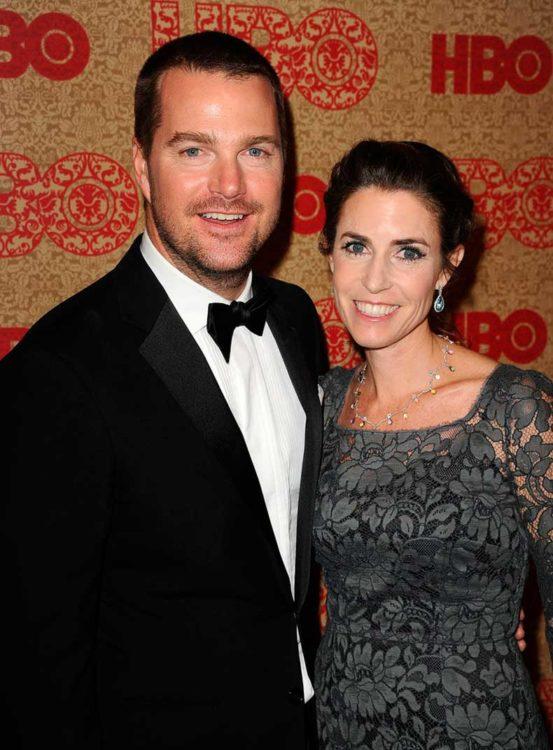Caroline Fentress y Chris O'Donnell se conocen desde la prepa