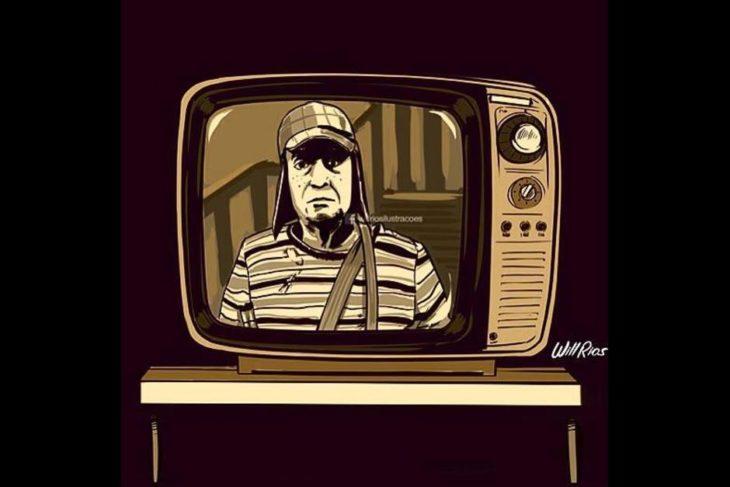 ilustración will ríos televisión doña florinda
