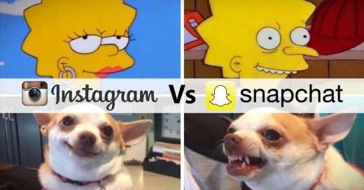 diferencia entre Instagram y Snapchat