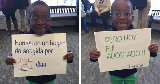 conmovedoras fotos de niños que fueron adoptados