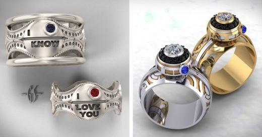 anillos de bodas estilo Star Wars