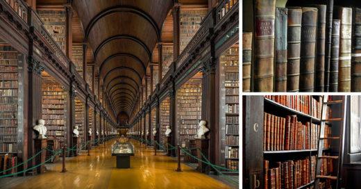 biblioteca con 300 años de antigüedad con más libros de Irlanda