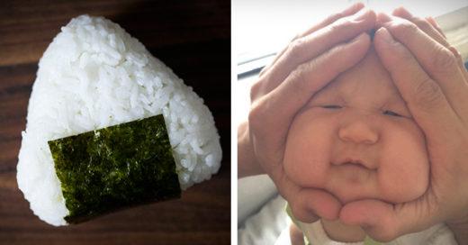 Pequeños a los que sus padres los convirtieron en una bola de arroz