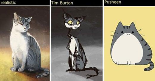 Artista Dibuja A Su Gato En 12 Estilos Distintos