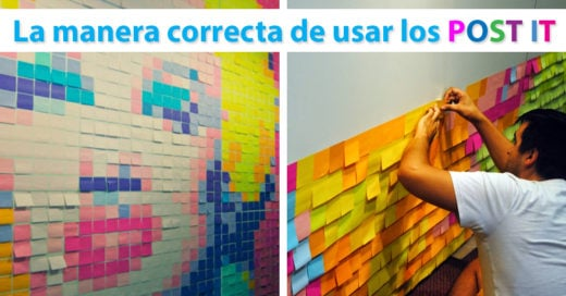 La manera correcta de usar los post it