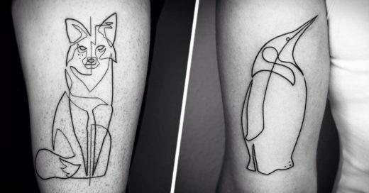 Tatuajes de linea continua