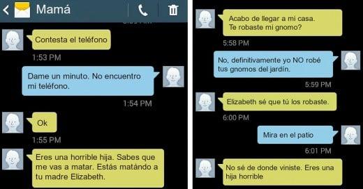 Chica publica las Divertidas Conversaciones con su mamá y Facebook la hizo Viral
