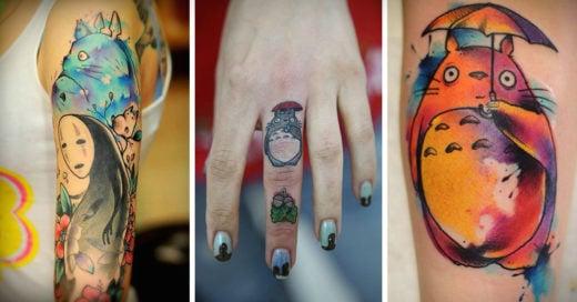 Tatuajes de totoro