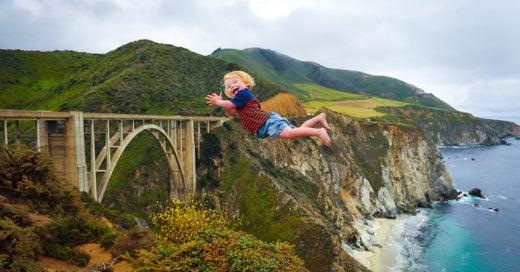 Alan Lawrence crea fotografías de su hijo con síndrome de dawn volando