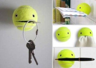 pelota de tenis para sostener cosas