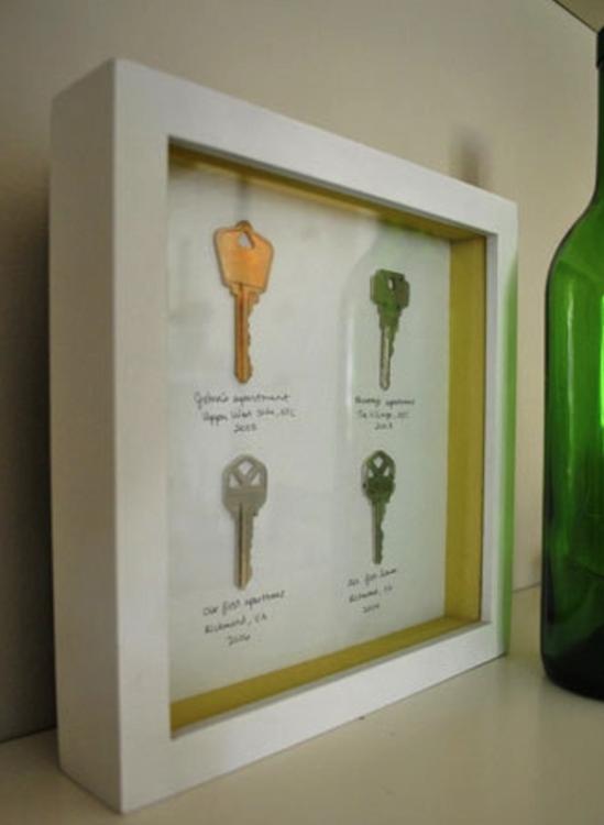 llaves de casa enmarcadas