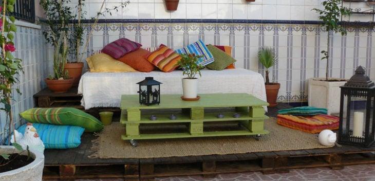 espacio en jardín relajado