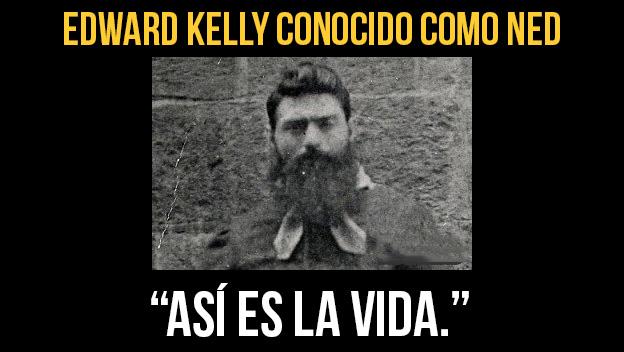 Edward Kelly todos los delitos que cometió eran homicidios
