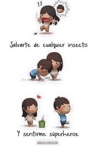 ilustración es amor es salvarte de un insecto
