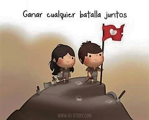 ilustración amor es ganar batallas juntos