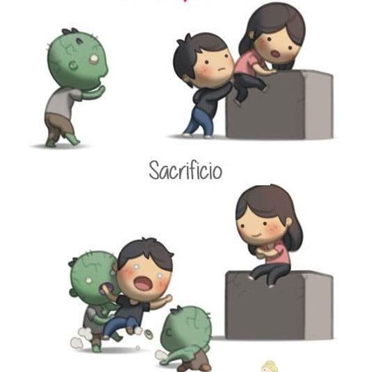 ilustración amor es sacrificio